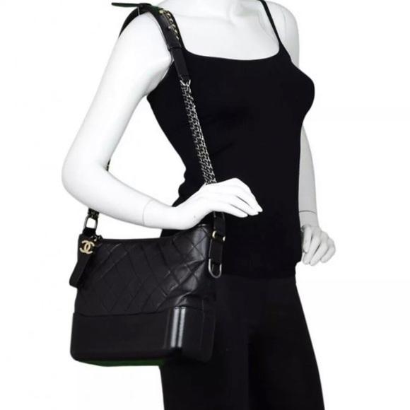 db6c21089142b1 CHANEL Bags | Auth Black Calfskin Medium Gabrielle Bag | Poshmark
